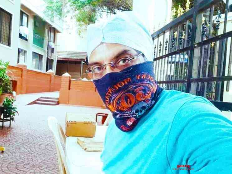 Director Srinath Vasishta turns security guard of his apartment - Tamil Movie Cinema News