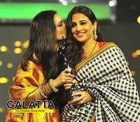 Rekha and Vidya spotted bonding at the Filmfare award ceremony!