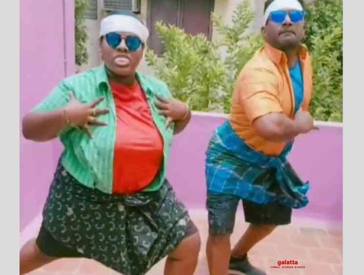 Indraja and Robo Shankar TikTok video Thalapathy Vijay birthday - Tamil Movie Cinema News