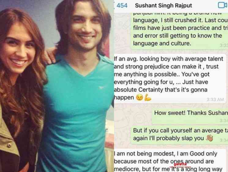 Lauren shares her whatsapp chat with Sushant Singh Rajput - Tamil Movie Cinema News