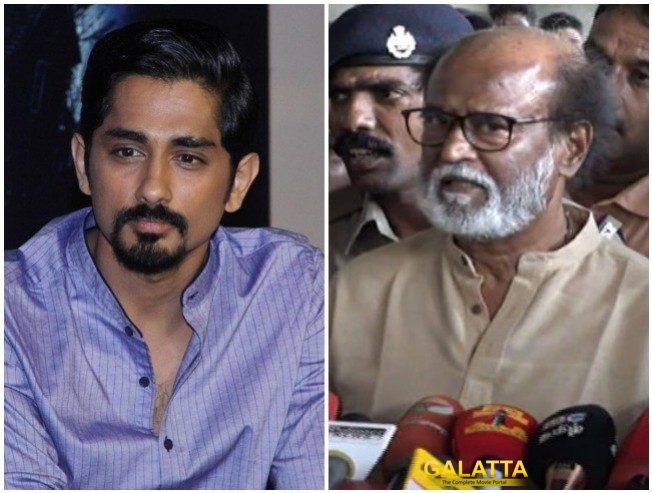 Siddharth Statement On Rajinikanth Anti Social Comments On Sterlite Protests