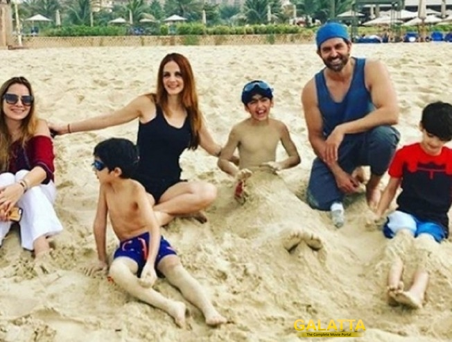 Hrithik and Susanne holiday together, for kids!