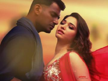 Nee Sirichalum Song Lyric video from Vishal Action Tamannaah - Tamil Movie Cinema News