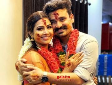 Myna Nandhini gets engaged to actor and dancer Yogeshwaran - Tamil Movie Cinema News
