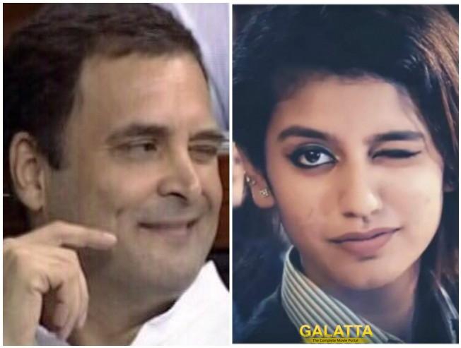 Priya Prakash Varrier Responds To Rahul Gandhi's Wink
