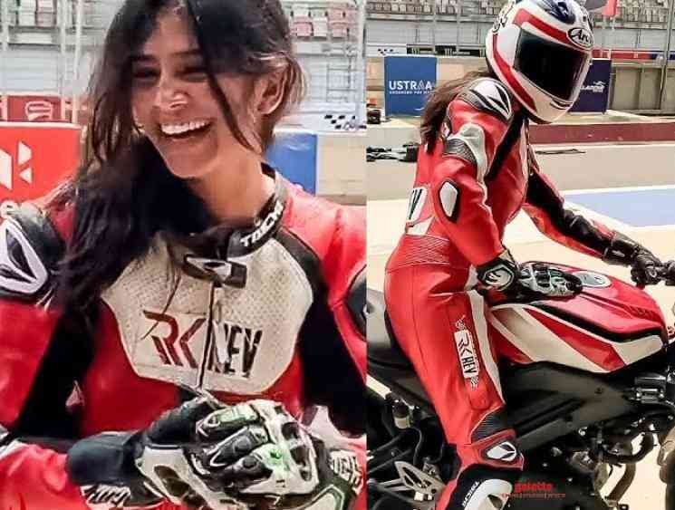 Malavika Mohanan learns to ride racer bike video goes viral - Tamil Movie Cinema News