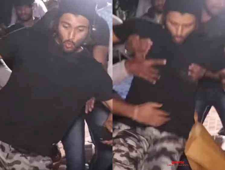 Vijay Deverakonda slips and falls rescued by people Fighter shoot - Hindi Movie Cinema News