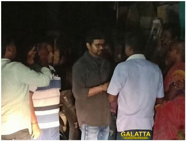 Thalapathy Vijay Meeting With Sterlite Protests Victims Families At Night