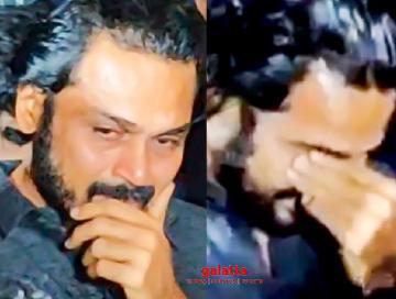 Karthi breaks down into tears - new emotional viral video  - Tamil Cinema News
