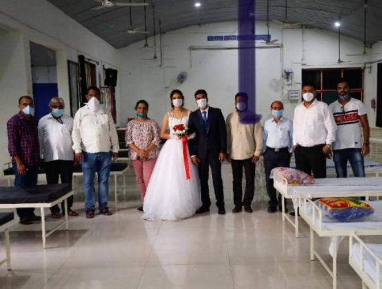 Newly married couple gives up reception to donate 50 beds to COVID-19 care centre in Maharashtra