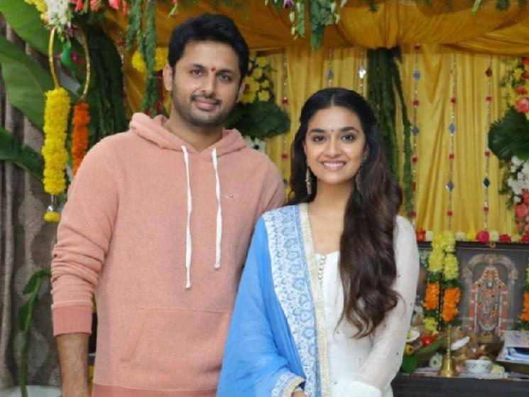 Keerthy Suresh & Nithiin's Rang De Motion Poster released!  - Tamil Cinema News