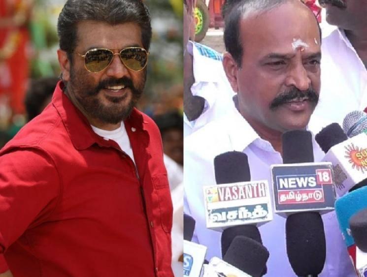 Minister Kadambur Raju thanks Ajith Kumar for his Corona donation - tweet goes viral among fans! - Tamil Cinema News